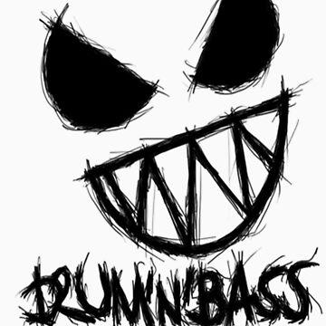 Drum N Bass Monster Tee by AfroSmurfs