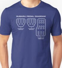 Subaru Pedal Diagram Slim Fit T-Shirt