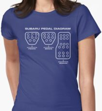 Subaru Pedal Diagram Women's Fitted T-Shirt