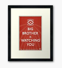 Big Brother Is Watching You Propaganda Framed Print