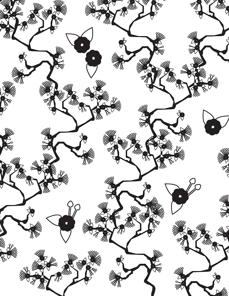 Japanese Floral Pattern by dirtylaundry .