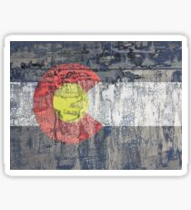 colorado flag textured wall Sticker