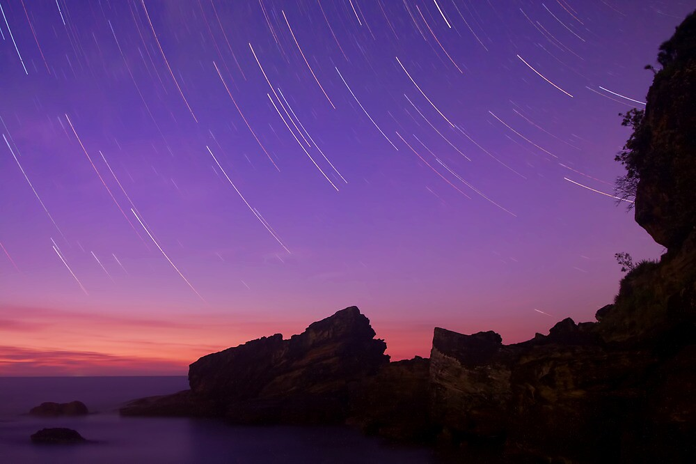 Pre-Dawn Star Trails at Killcare Beach by Mike Salway