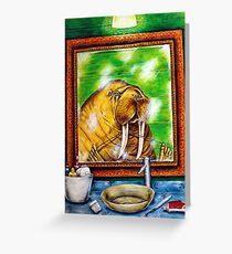 Walrus with Good Hygiene Greeting Card