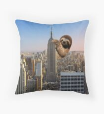 The Empire Sloth Building Throw Pillow