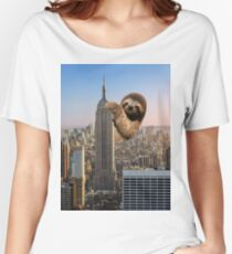 The Empire Sloth Building Women's Relaxed Fit T-Shirt