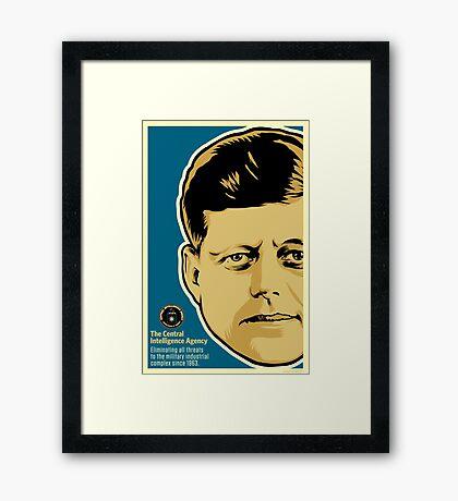 JFK CIA Framed Print