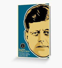 JFK CIA Greeting Card