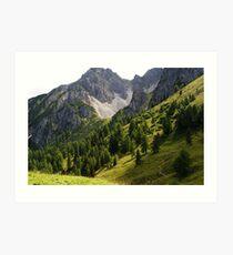 Austria Mountains Art Print