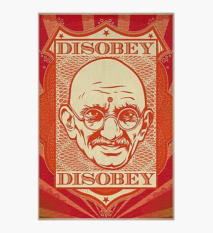 Mahatma Gandhi: Disobey Photographic Print