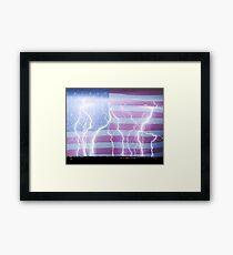 America the Powerful Framed Print