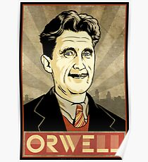 George Orwell Drawing: Posters | Redbubble