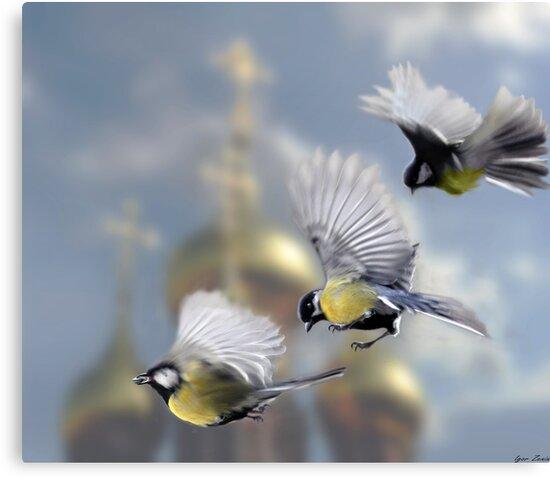 Chickadees by Igor Zenin