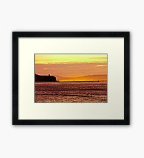 summer sunset over looking Castlerock Beach Framed Print