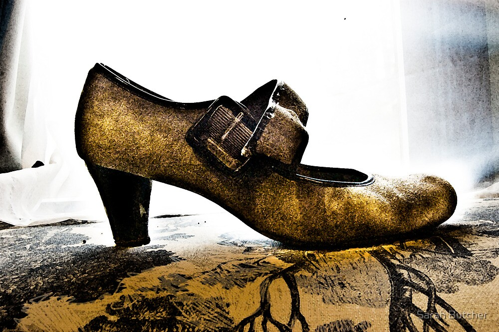 Suede Mary Janes and Toile by Sarah Butcher