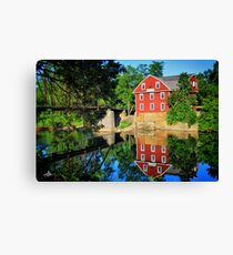 War Eagle Mill and Bridge, Arkansas Canvas Print