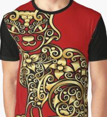 Golden cat decoration Graphic T-Shirt