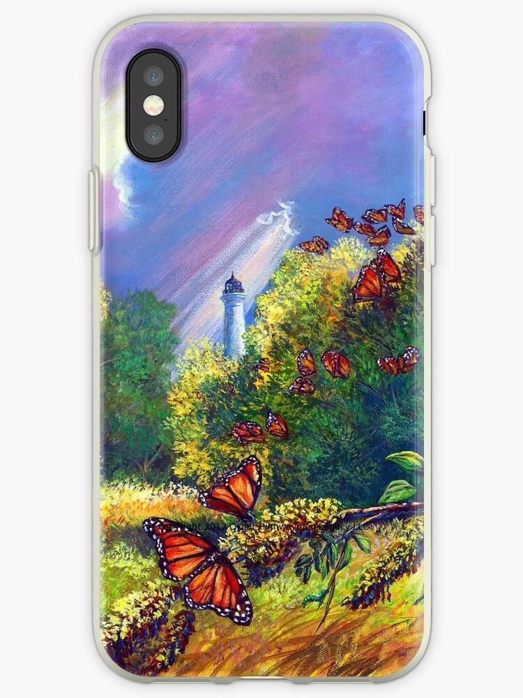 """Iphone Case """"Monarch Protuberance-St. Marks Light"""" by cyberhighwaymen"""