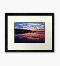 Sunrise @ Middle Harbour Framed Print