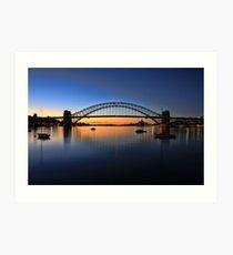 Sydney Opera House and the Harbour Bridge  Art Print