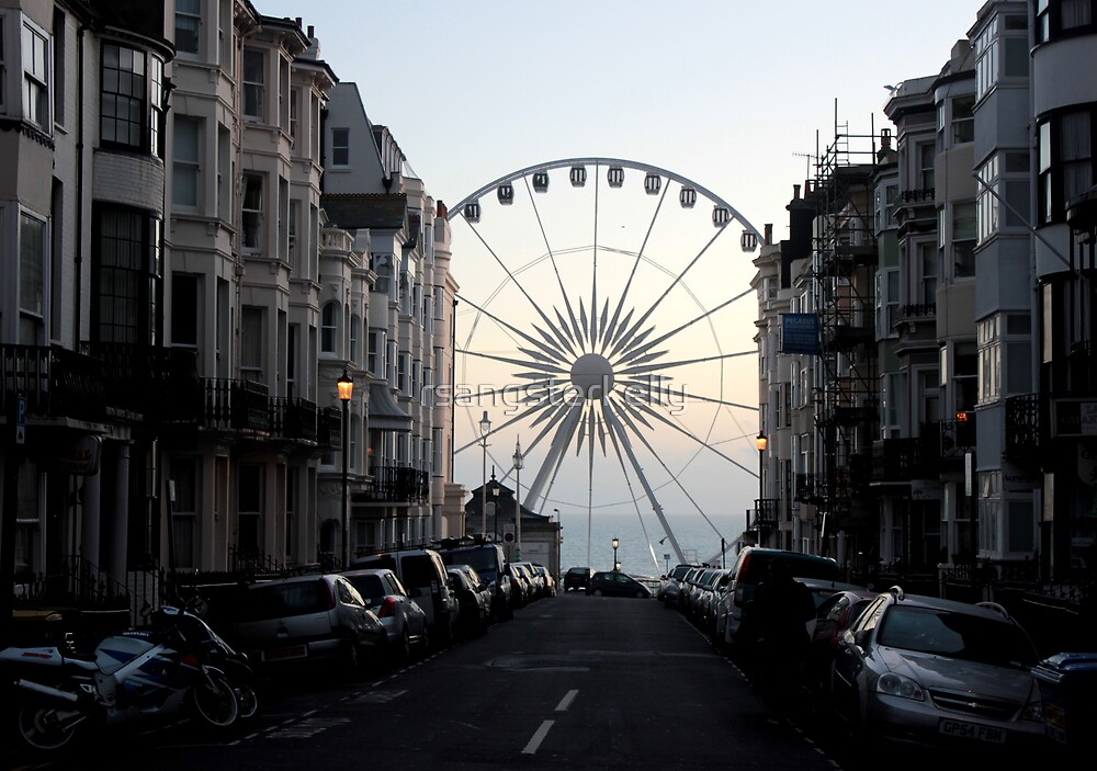 The Brighton Wheel Emerges  by rsangsterkelly