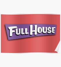 Full House Logo Poster