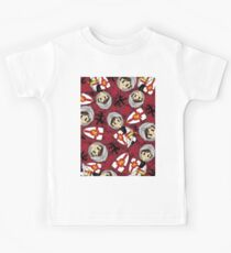 Cute Medieval Crusader Knight Pattern Kids Tee