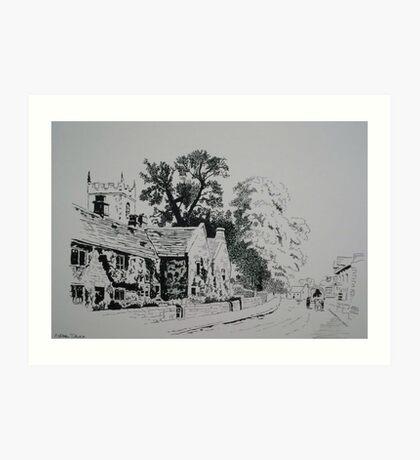 Plague Cottages Art Print