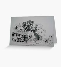 Plague Cottages Greeting Card