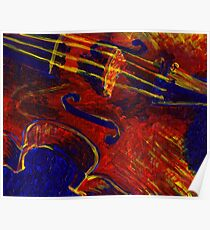 Primary Colors Viola Painting Poster