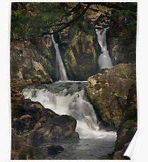 Coed Cymerau Isaf waterfall Poster