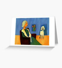 alone with the dog Greeting Card