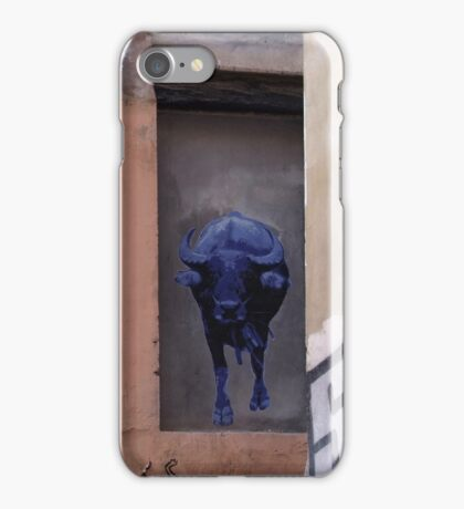 running of the blue bull iPhone Case/Skin