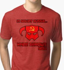 Soviet Knees Have Arrows... Tri-blend T-Shirt