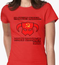 Soviet Knees Have Arrows... Womens Fitted T-Shirt