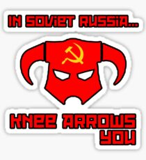 Soviet Knees Have Arrows... Sticker