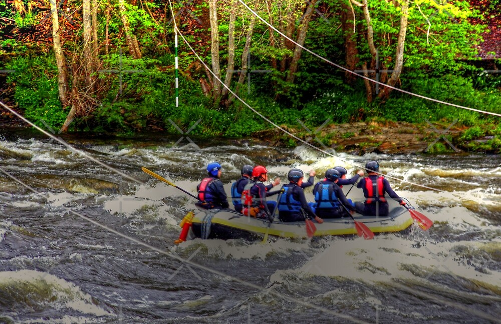 White Water Rafting by Tom Gomez