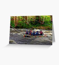 White Water Rafting Greeting Card