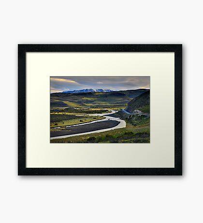 The Road to Laguna Amarga Framed Print
