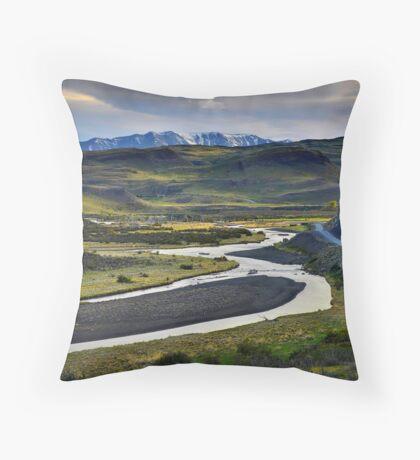 The Road to Laguna Amarga Throw Pillow