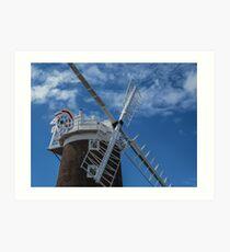 The windmill at Cley Art Print
