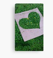 Green Valentinesday Love Canvas Print