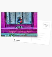 """ Window Hug""  Valentine's Day Card Postcards"