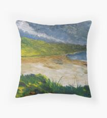 Coastal road to Barleycove Throw Pillow