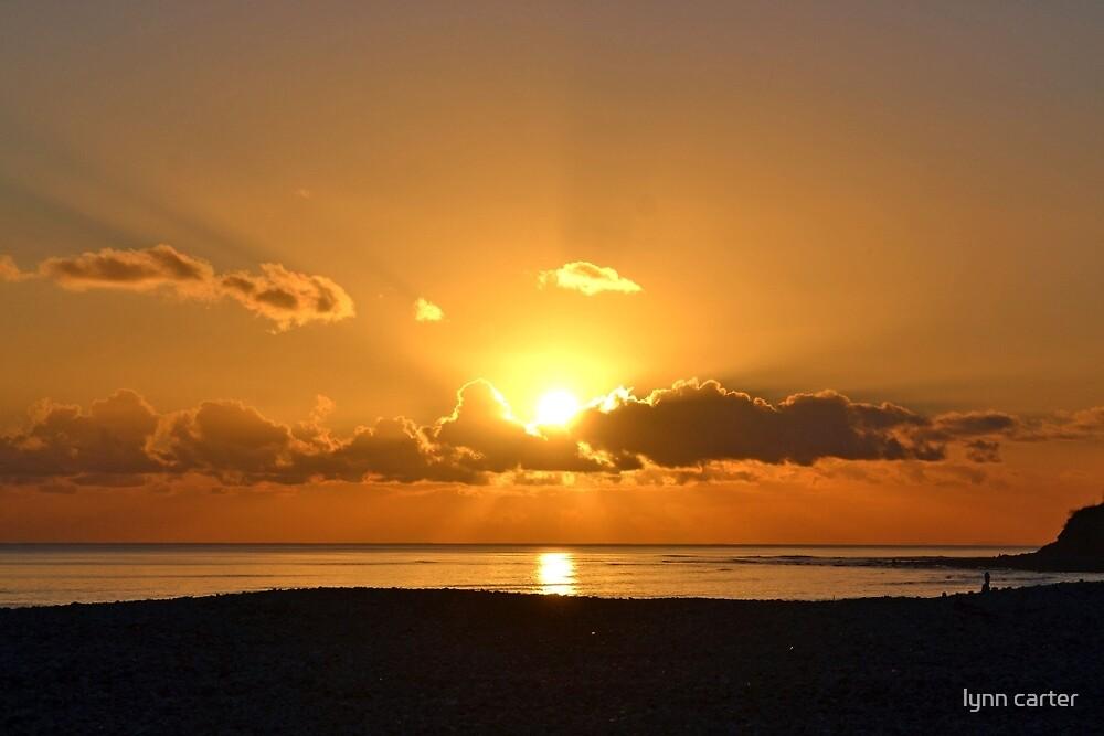 December Sunset Over Lyme, Dorset UK-2014-12-13 by lynn carter