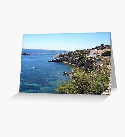 Blue Waters Around Ibiza Greeting Card