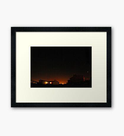 waiting for northern lights Framed Print