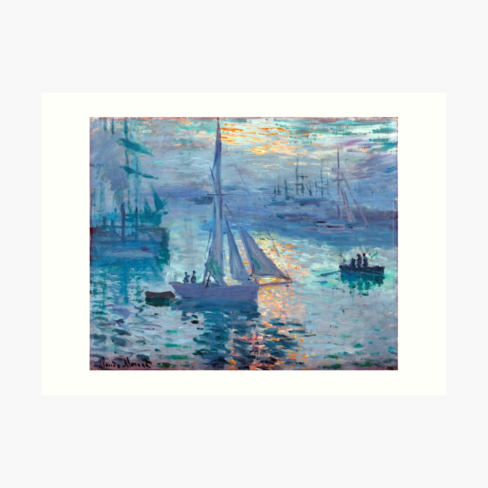Sonnenaufgang - Marine - Claude Monet - 1873 Kunstdruck