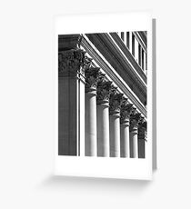 Row of classical columns Greeting Card