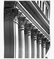 Row of classical columns Poster